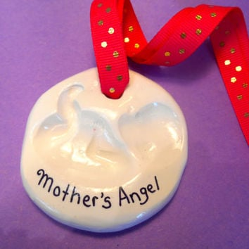 Baby Announcement Ornament, Clay Baby Ornament, New Mother Gift, Baby Gift, Pregnancy Gift, Polymer Clay Baby Ornament, Expectant Mother