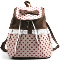 Generic Cute Bow-knot Dots Backpack