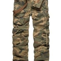 "Match Men's Woodland Military Cargo Pants(W32"",3316 max)"