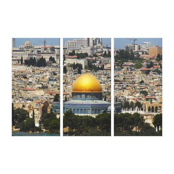 Jerusalem Dome of the Rock Cityscape Canvas Print