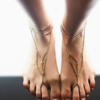 Free People Womens Paradise Anklet Set