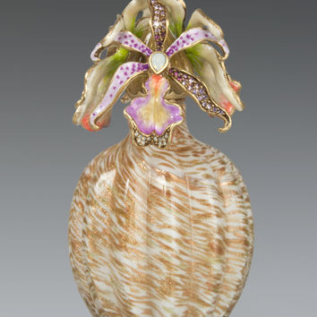 Orchid Cluster Perfume Bottle - Jay Strongwater