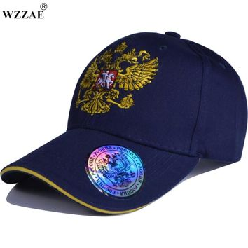 New Unisex 100% Cotton Outdoor Baseball Cap Russian Emblem Embroidery Snapback Fashion Sports Hats For Men & Women Patriot Cap