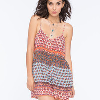 Angie Boho Print Womens Romper Multi  In Sizes