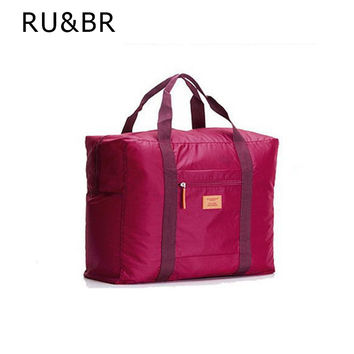 RU&BR  New Fashion Large Capicity Travel Pouch WaterProof Travel Handbags Women Luggage Travel Bag Folding Bags Easy To Carry