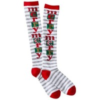 Xhilaration® Juniors Holiday Knee High Socks - Assorted Colors/Patterns