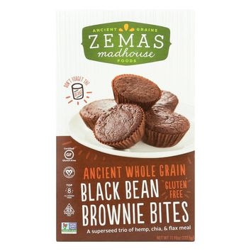 Zemas Madhouse Foods Best Black Bean - Gluten Free Brownie Bites Mix - Gluten Free - Makes 24 Great Mini Brownies