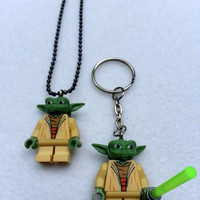 BOGO Promo Buy 1 Get 1! Buy 1 Lego Necklace YODA Starwars, Starwars Collection, Get 1 Keychain FREE Superhero Party Favors Geek Nerd Gift