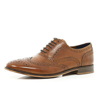 River Island MensBrown formal brogues