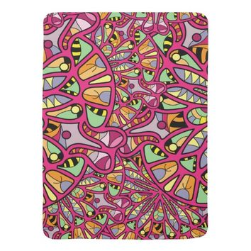 Kaleidoscopic Multicolored Abstract Pattern Baby Blanket