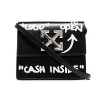 """Cash Inside"" Black Crossbody Bag by  OFF-WHITE"