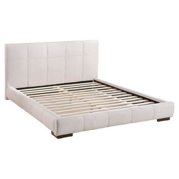 Amelie Bed King White Wood
