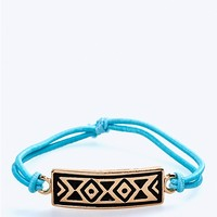 Aztec Tag Stretch Bracelet