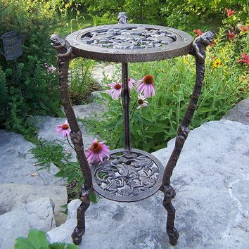 Oakland Living Frog Plant Stand - Outdoor (Antique Bronze)