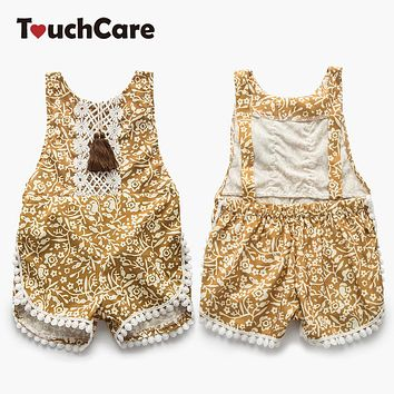 Newborn Baby Lace Floral Rompers Sleeveless Slip Baby Clothes Backless Jumpsuits Infant Summer Baby Girl Clothing