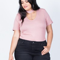 Plus Size Hold Tight Basic Tee