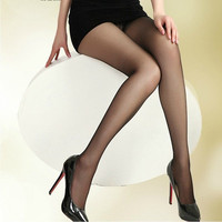 Sexy black women's Tights Brown Thin Female stockings solid Pantyhose for woman