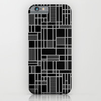Map Lines Silver iPhone & iPod Case by Project M