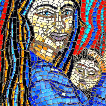 Stained Glass Mosaic Art Wall Hanging Reserved for Stephen Boswell