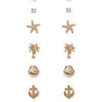 Nautical Motif Earring Set