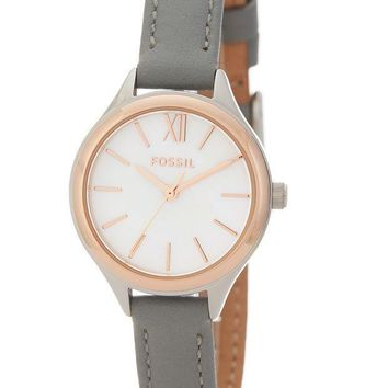 Fossil | Women's Mini Round Leather Watch | Nordstrom Rack