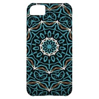 turquoise and brown pattern iPhone 5C cases