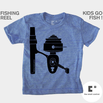 Fishing Reel Kids TShirt, Baby, Toddler, Kids Shirt, Boy 3M/6M/12M/2T/4T/6T/10T/12T, Blue, Boys Fishing Shirt, Modern Kids, Boys Clothes