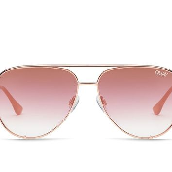 Quay Desi Perkins #QUAYXDESI High Key Rose Sunglasses / Copper Fade Lenses