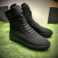 DCC3W Fear Of God FOG Justin Bieber Military High-Top Black Luxury Shoes