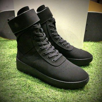 NOV9O2 Fear Of God FOG Justin Bieber Military High-Top Black Luxury Shoes-1