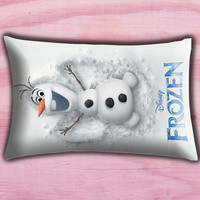 "Disney Frozen Olaf Poster Pillow Cover, Pillow case, Throw Bed Bedroom, Size 30"" x 20"""