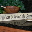 Wood Sign Home Decor Wall Hanging, Shelf Sitter, Primitive Farmhouse, Happiness is Baking Quote, Rustic Shabby Cottage Chic, Mother Kitchen