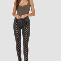 Ready For Action Lace Up Pants