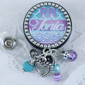 Badge, Nurse Badge Reel, Badge Reel, Nurse Er Rn Badge Reel, Personalized Nurse Badge, Personalized Rn Badge, Personalized Badge