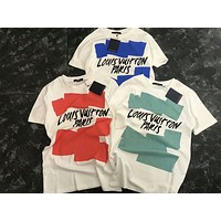 LV  match leisure T-shirt