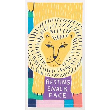 Resting Snack Face Dish Towel With Lion Design