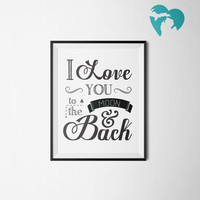Nursery Decor | I Love You to the Moon and Back | Babies Room | Children | Instant Download