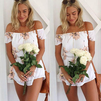 Women's Fashion Floral Print Jumpsuit [4970293700]