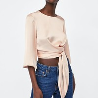 SATIN CROP TOPDETAILS