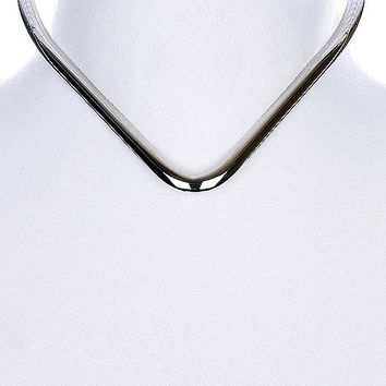 "10"" V shape open cuff choker collar necklace 277r"