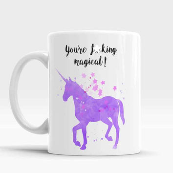 Funny Unicorn Mug, Birthday Gift, Gift for Her, Holiday Gift, Christmas Gift, White Elephant Gift, Unicorn, Coffee cup, Unicorn coffee mug