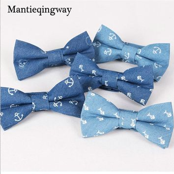 Mantieqingway Retro Trendy Business Suit Cotton Bow Tie For Men Casual Male Solid Cravats Newest Men's Bowties For Wedding Party