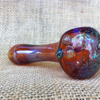 Amber Color Changing Glass Spoon Pipe by AirFire on Etsy
