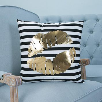 Kissing Puckered Lips Pillow Case Cover - Home Decorations