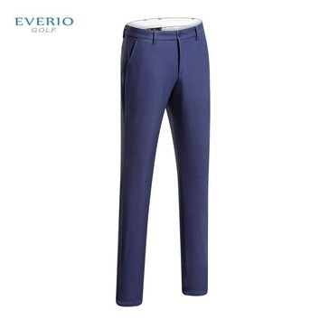 EVERIO men's thickening fleece plaid golf trousers autumn winter Outdoor sports warm Slim breathable golf pants men sportswear
