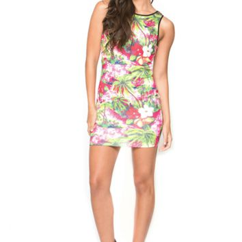 TROPICAL PUNCH BODY CON DRESS