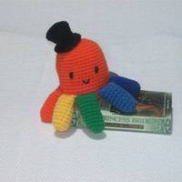 Amigurumi Rainbow Octopus with Top Hat from Craftypodes