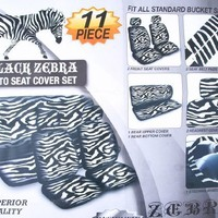 Seat Cover 11pc - Zebra White