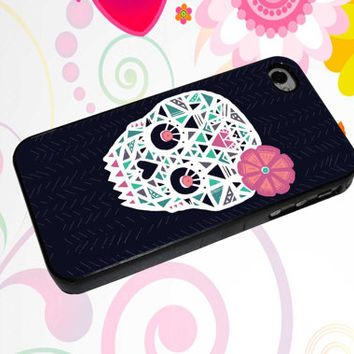 Sugar Heart Skull design for iphone 4/4s/5/5s/5c/6/6+ case, ipod touch 5, samsung galaxy s3/s4/s5 case