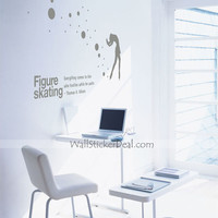 Figure Skating Wall Sticker – WallStickerDeal.com